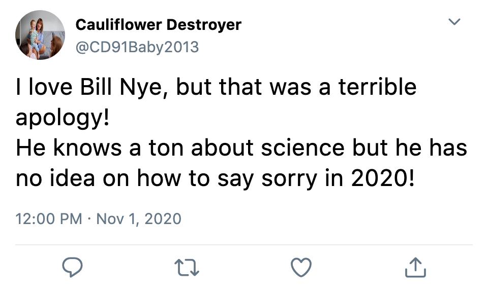Twitter Angry at Bill Nye