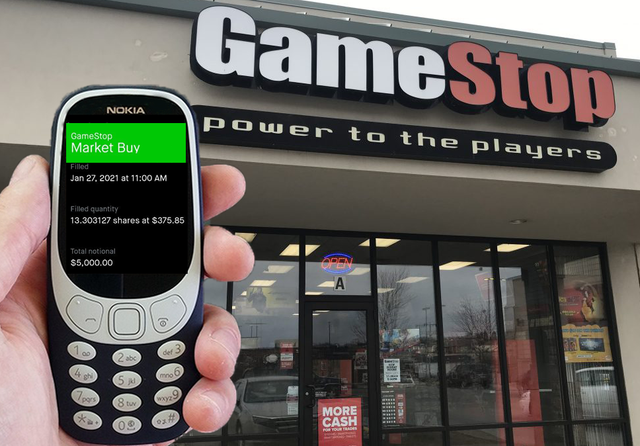 GameStop, GME, Nokia post on wallstreetbets